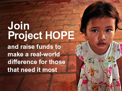 Join Project HOPE Image--DIY Fundraising