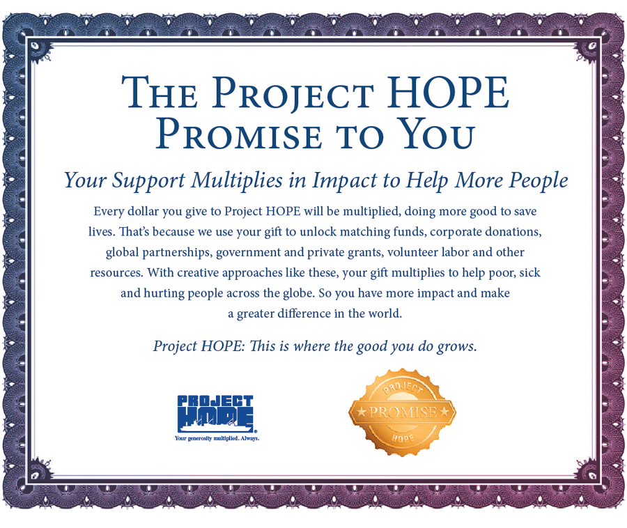 The Project HOPE Promise to You